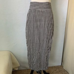 Aakaa Black & White Checkered Wrap Skirt